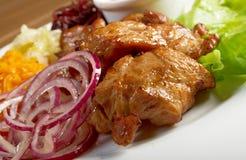 Shashlik (shish kebab) Royalty Free Stock Images