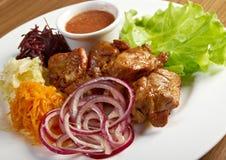 Shashlik (shish kebab) Stock Image