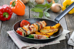 Shashlik skewer Stock Images