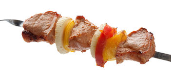 Shashlik on the skewer Stock Image
