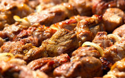Shashlik on skewers Royalty Free Stock Image