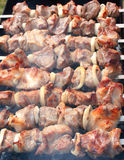 Shashlik on spit Royalty Free Stock Images