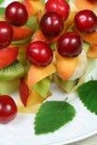 Shashliks della frutta Immagine Stock