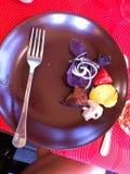 Shashllik on the plate Stock Image