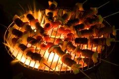 Shaslick satay grelhado Foto de Stock