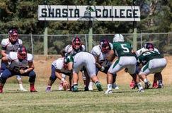 Shasta学院橄榄球 免版税库存图片