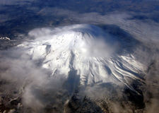 Shasta From Above stock photography