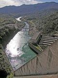 Shasta Dam and the Sacramento River Stock Photo