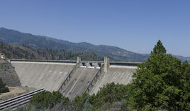 Shasta Dam, USA. A view of an arch type concrete hydro electric dam located in the USA Stock Photography