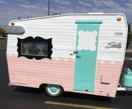 Shasta vintage remodeled trailer Royalty Free Stock Photography