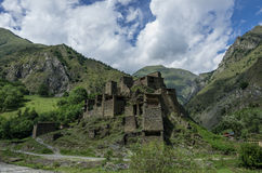 Shatili. Abandoned fortified village with watch towers in Georgi Royalty Free Stock Photography