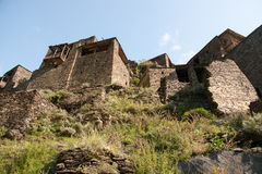 Shatili town castle Royalty Free Stock Photos