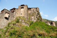 Shatili town castle Stock Photos