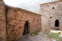 Shatili town castle Stock Image
