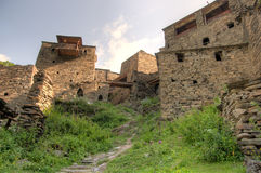 Shatili town castle Royalty Free Stock Images