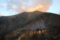 Shatili village at sunrise, Georgia Royalty Free Stock Photo