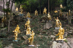 Shatin 10000 Buddhas寺庙香港 免版税库存照片