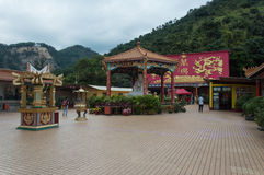Shatin Temple, Hong Kong stock image