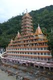 Shatrughan寺庙在Rishikesh。 免版税图库摄影