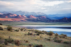 Shatsagay nuur lake in mongolia Royalty Free Stock Images