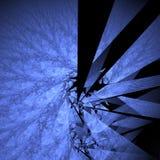 Shattered. Look fractal rendering on black Vector Illustration