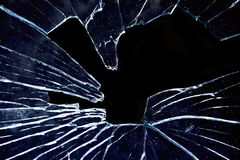 Shattered stock photo