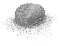 Shattered brain illustration, stress and brain injury. Royalty Free Stock Photo