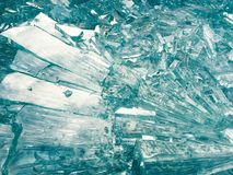 Shattered broken glass pieces Royalty Free Stock Photography