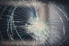 Shattered Broken Glass Texture Background royalty free stock image