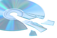 Shattered cd Stock Image