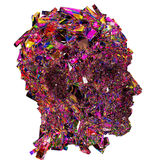 Shattered colorful glass Head side view Royalty Free Stock Image