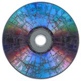 Shattered compact disc Stock Photos