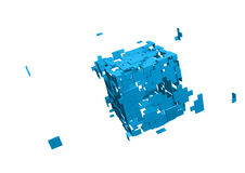 Shattered cube Royalty Free Stock Photo