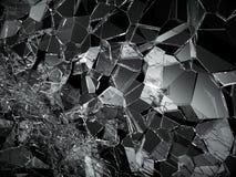 Shattered or demolished glass over black. Background. 3d rendering 3d illustration Royalty Free Stock Image