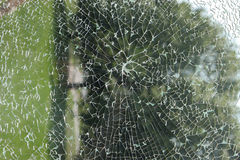Shattered Glass. Shattered Safety Glass panel, suitable as background or abstract royalty free stock images