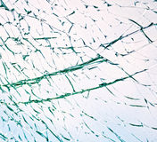 Shattered glass. Broken or shattered safety glass in car window Royalty Free Stock Image