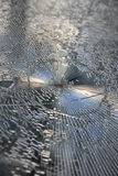 Shattered glass. Broken window with shattered glass royalty free stock photo