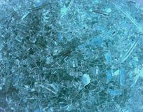 Shattered Glass. Shattered Tinted Glass royalty free stock photos