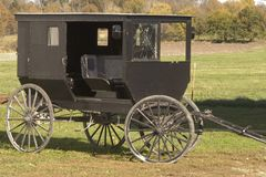 Shattered Amish buggy glass Stock Image