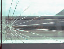 Shattered Glass Stock Image