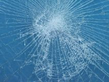 Shattered glass. Shattered laminate A grade safety glass Royalty Free Stock Photography