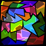 Shattered glass abstract background. Colorful abstract background, with shattered glass looking Stock Photography