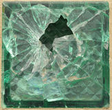 Shattered glass brick Royalty Free Stock Photos