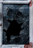 Shattered Glass Fingerprints Royalty Free Stock Images