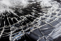 Shattered Glass Macro Royalty Free Stock Photo