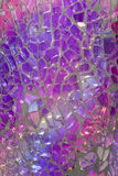 Shattered Glass Mosaic. Closeup - Blues, Purples, Reflections Royalty Free Stock Images