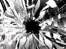 Shattered glass over black background. 3d illustration; 3d rendering Royalty Free Stock Image