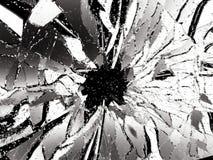 Shattered glass over black background. 3d illustration; 3d rendering Stock Image