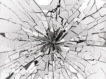 Shattered glass over black background. 3d rendering 3d illustration Royalty Free Stock Photo