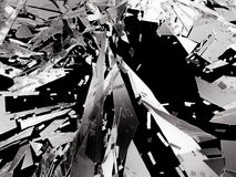 Shattered glass over black background. 3d rendering 3d illustration Stock Photo